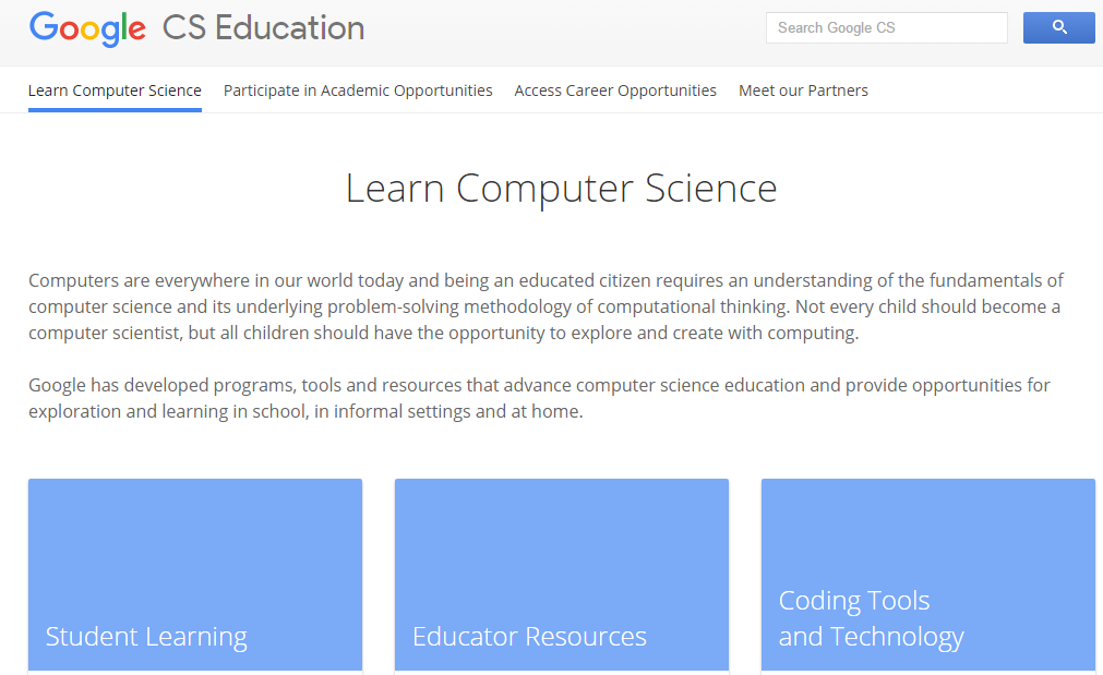 Google CS Education